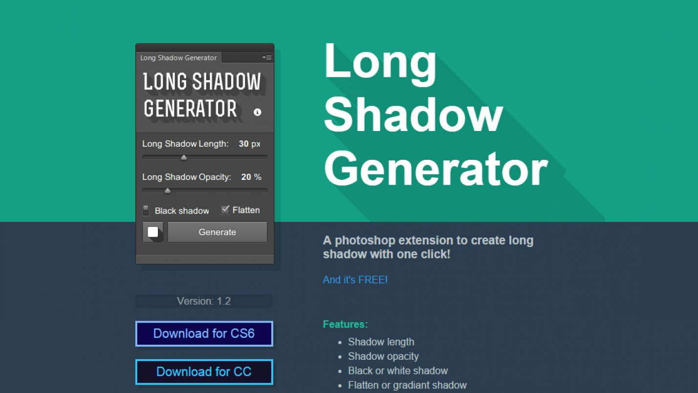 Adobe Photoshop üçün Long Shadow Generator