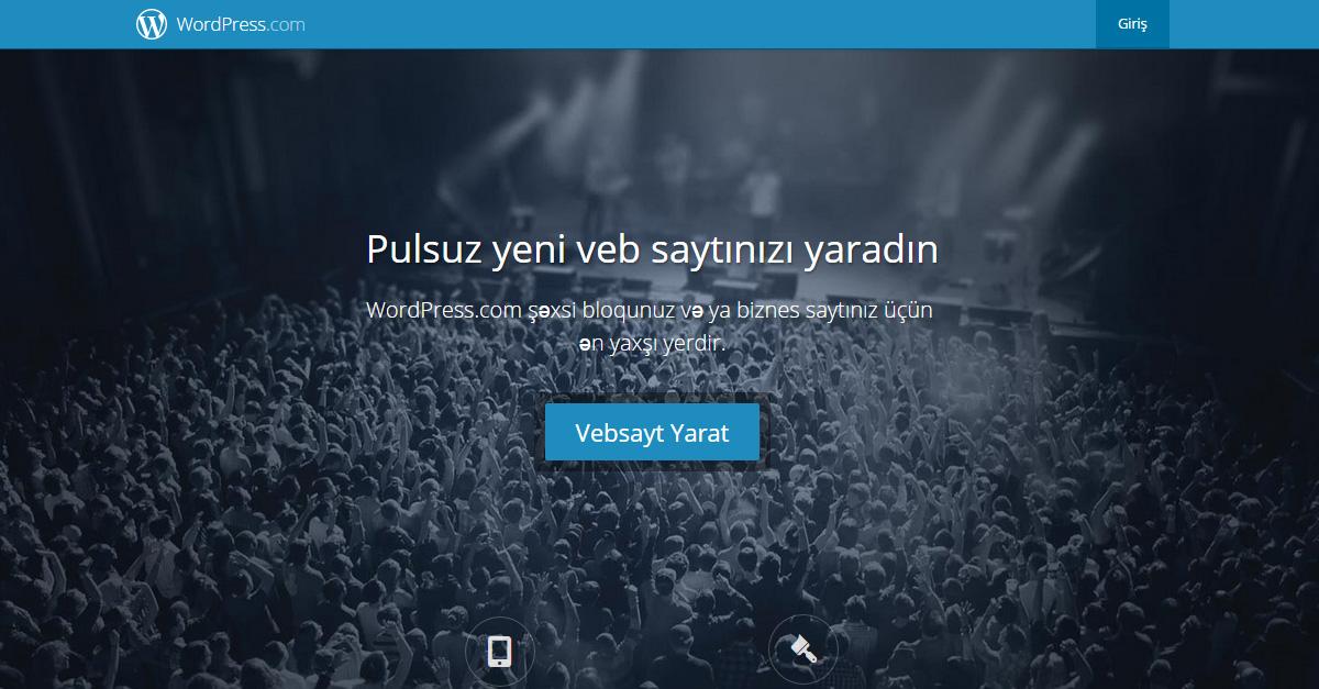 WordPress ilə 100% Pulsuz Sayt Yarat