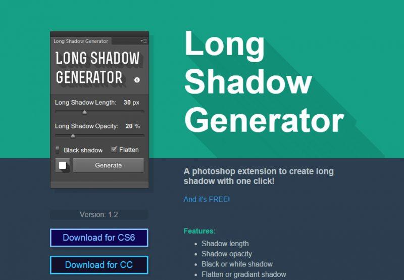 Adobe Photoshop üçün Long Shadow Generator